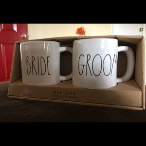 Rae Dunn Bride and Groom Mugs